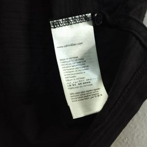 Calvin Klein Shirts - Calvin Klein Large Black Short Sleeve Zipper Shirt
